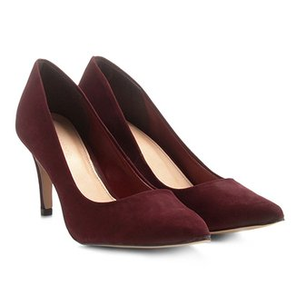 c318f05342 Scarpin Couro Shoestock Salto Alto Básico