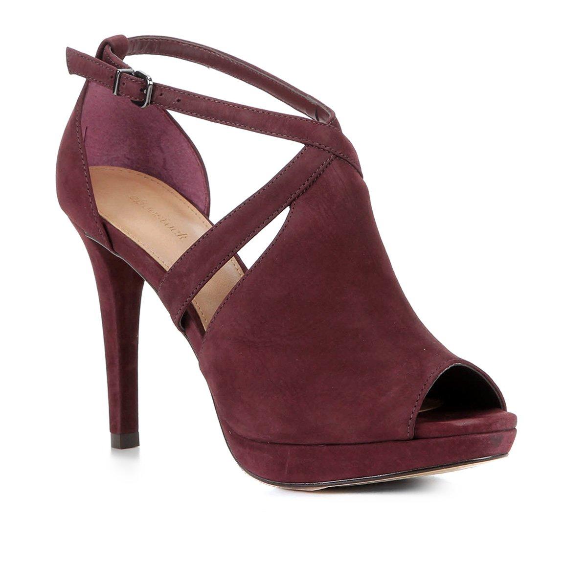 Sandália Shoestock Nobuck Meia Pata Feminina