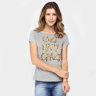 cb7532acf4 Camiseta Lunender Estampada Onça