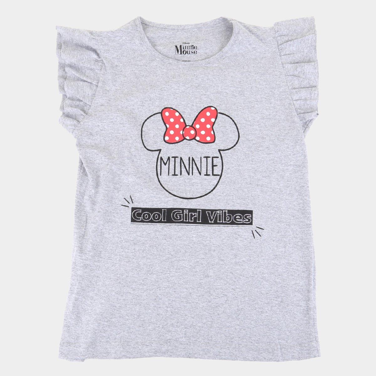 Blusa Infantil Disney Good Vibes Minnie Feminina