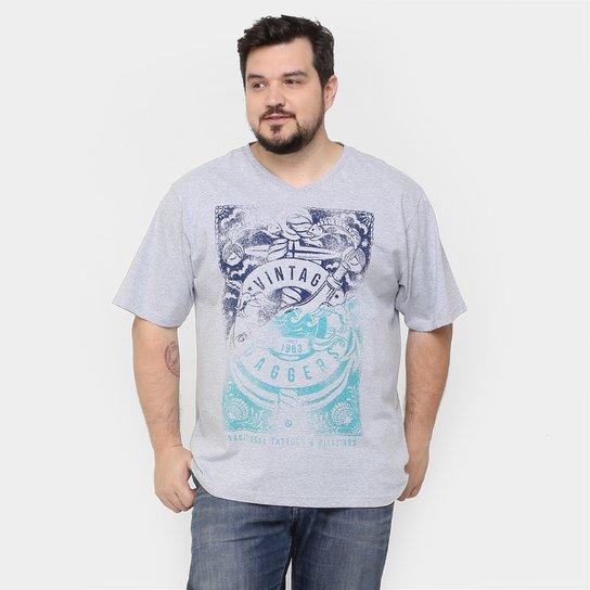 a2b429b81 Camiseta SBA Gola V Estampada Plus Size | Zattini