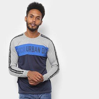 e11aace37d Camiseta Manga Longa Overcore Estampada Urban Masculina