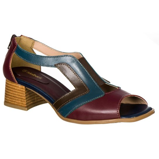 3b08c2221d Sapato Feminino Boneca Retro Malbork em Couro - Bordô - Compre Agora ...