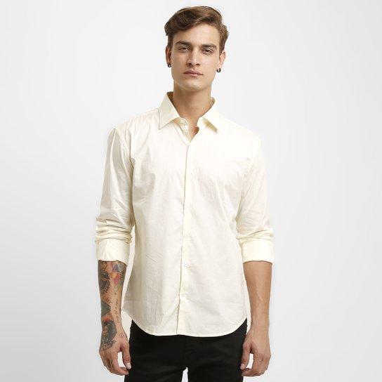 Camisas Ellus Tricoline Lycra Slim - Compre Agora   Zattini b920ae1ebe