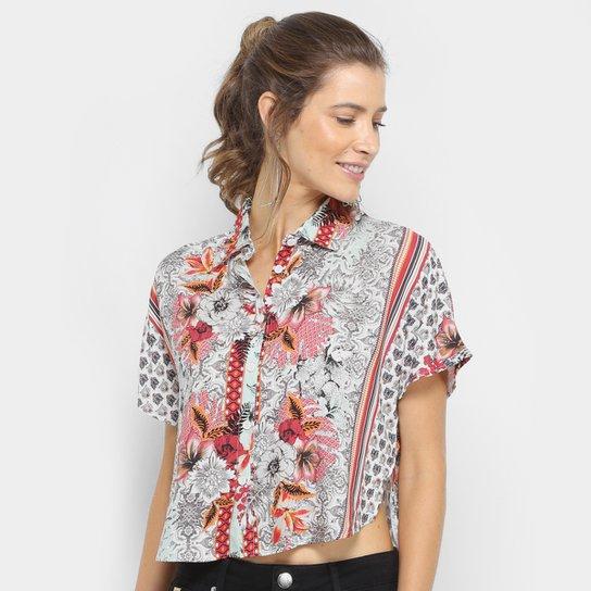 21e778aed Camisa Cropped Estampada Sommer Manga Curta Feminina - Compre Agora ...