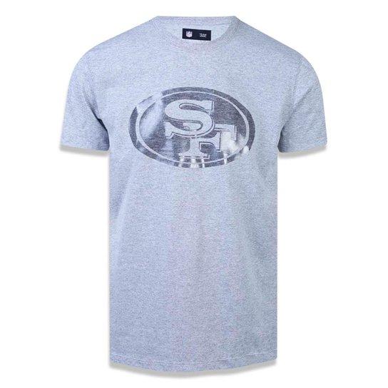 Camiseta San Francisco 49ers NFL New Era Masculina - Mescla Claro ... d5d5fc30cf4