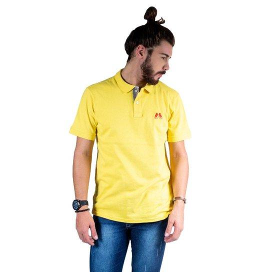 db29ec714a Camisa Polo Hipica Polo Club Estilo Classic BB Masculina - Amarelo Claro