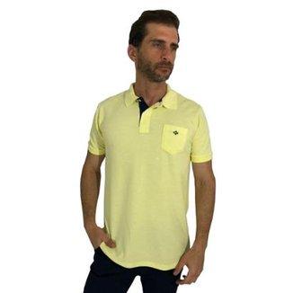 6969765640 Camisa Polo Mister Fish Slim Com Bolso BB Masculina