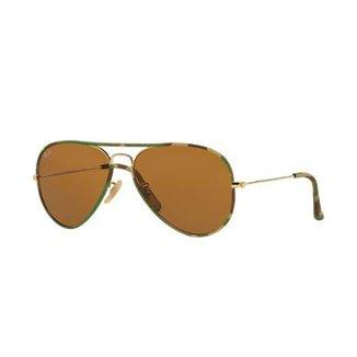 39b276b70 Óculos de Sol Ray-Ban Aviator Camuflagem Multicolorido