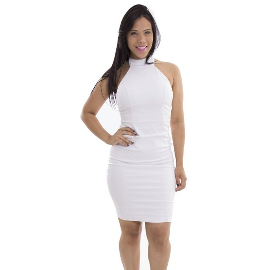 9424bcd542 Vestido Básico Kim C00676 - Capullita - Branco - M - Compre Agora ...