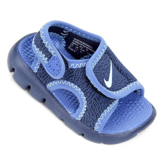 1177204809942 Sandália Infantil Nike Sunray Adjust 4 - Azul Claro+Azul