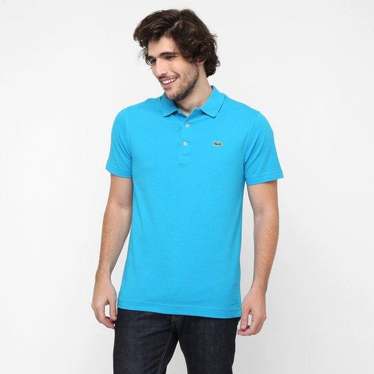 Camisa Polo Lacoste Super Light Masculina - Azul Piscina e Verde ... cd7e94a724b04
