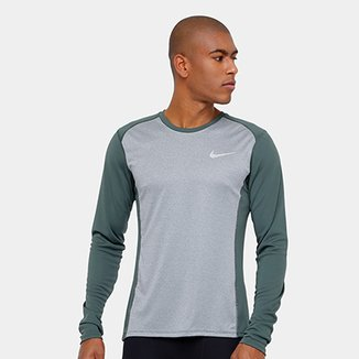 afe7c917be Camiseta Nike Dri-Fit Miler Manga Longa Masculina