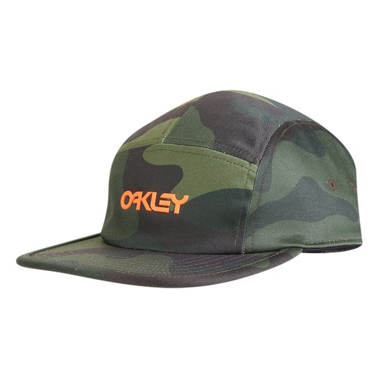 Boné Oakley Aba Reta Mod 5 Panel Cotton Camuflado Hat - Verde ... cf0bb91d13a
