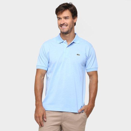 Camisa Polo Lacoste Original Fit Masculina - Azul Claro - Compre ... f0294fa1a0