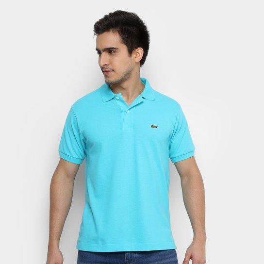 Camisa Polo Lacoste Piquet Original Fit Masculina - Azul Claro e ... 40cf7eba87bdd