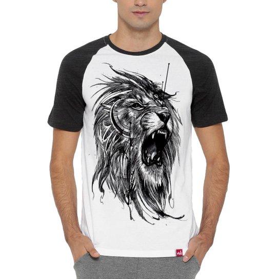 079405923f Camiseta Raglan Wevans Leão Tattoo - Compre Agora