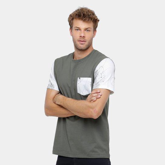 Camiseta MCD Especial Geo Flower Masculina - Verde claro - Compre ... 3044efb46c0