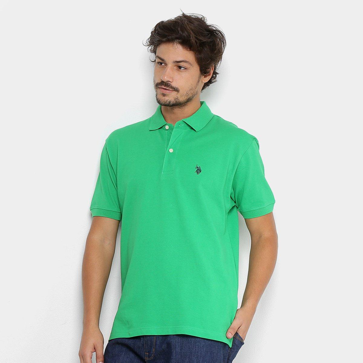 Camisa Polo U.S. Polo Assn Piquet Bordado Masculina a6b80a89685ec
