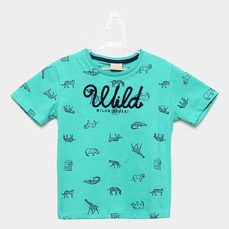 abb79bdda20 Camiseta Infantil Milon Full Print Animais Masculina
