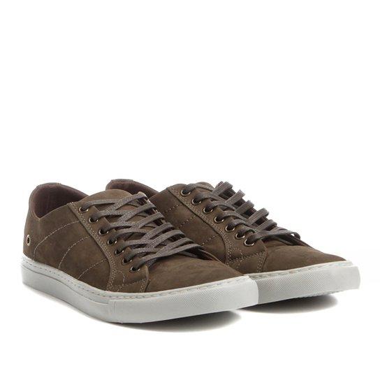 ccb47859ab Sapatênis Couro Shoestock Nobuck Color Masculino - Musgo - Compre ...