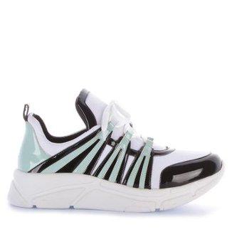 3476306ae04 Tênis Runner Sneaker Di Valentini Verniz Feminino