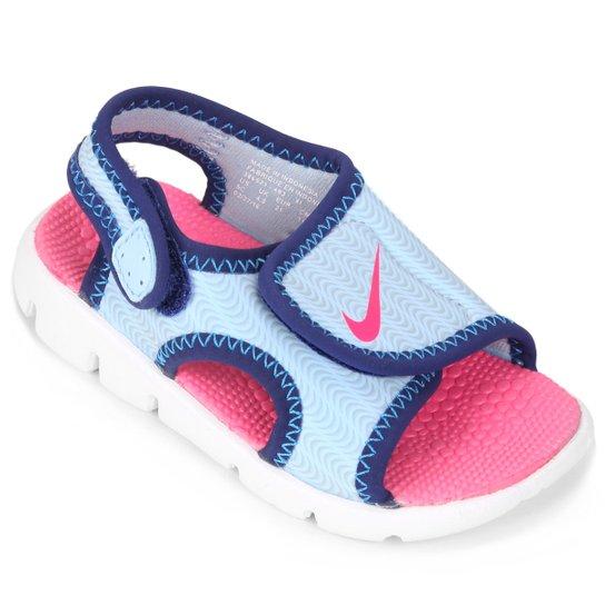 b893a0a6d Sandália Nike Sunray Adjust 4 Infantil - Azul e Rosa | Zattini