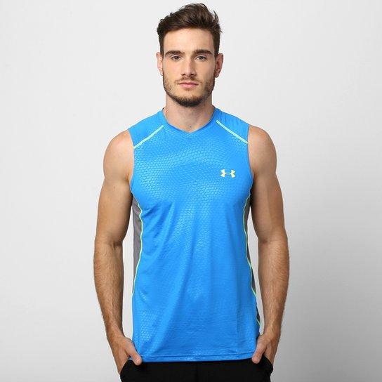 0223327e30e Camiseta Regata Under Armour PIP Go! Fight! Cure! Masculina - Azul Turquesa+
