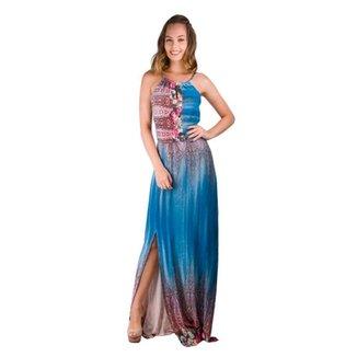 3b51335ea Vestido Longo Visco Azelha - Banna Hanna