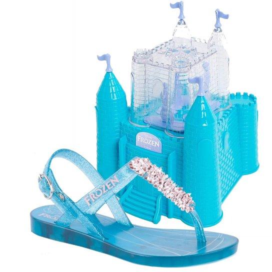 Sandália Grendene Frozen Castelo - Azul e Rosa - Compre Agora  ebd2bb62b60