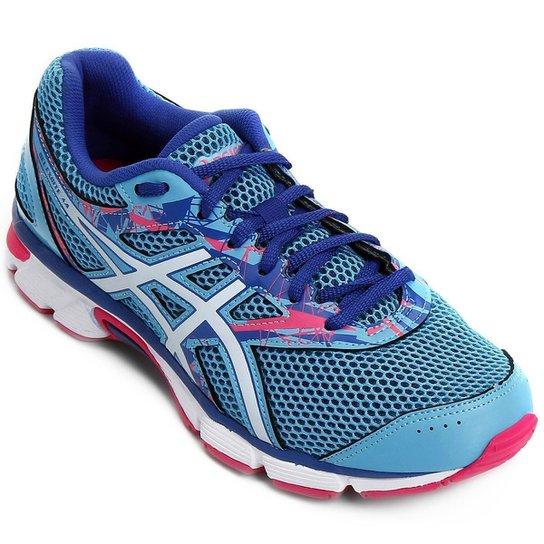 Tênis Asics GEL Excite 4 Feminino - Azul e Rosa - Compre Agora  e1eee64eede73
