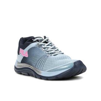 760b067e963 Tênis Esportivo Feminino Fila Azul marinho rosa