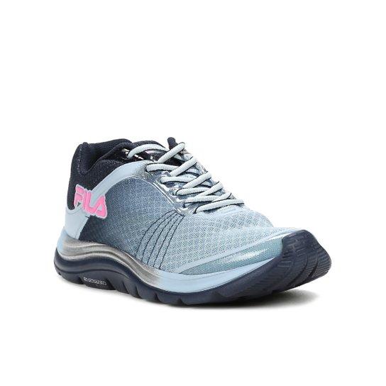 bf14fdd63a779 Tênis Esportivo Feminino Fila Azul marinho rosa - Azul e Rosa ...
