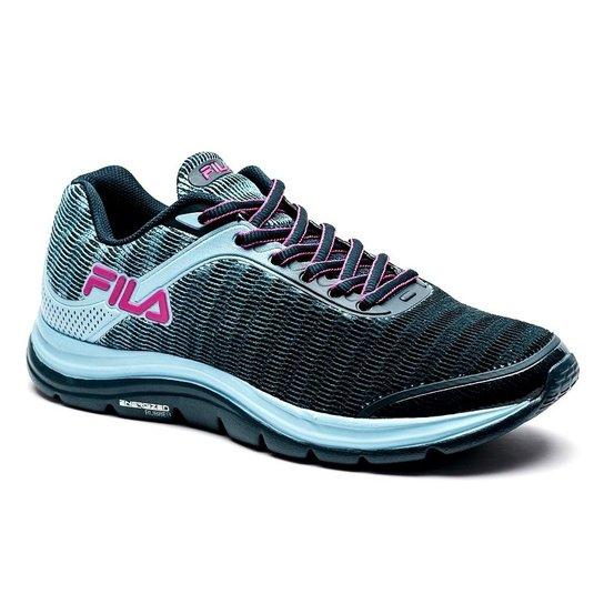 930db24c8a Tênis Fila Softness 2.0 Feminino - Azul e Rosa - Compre Agora