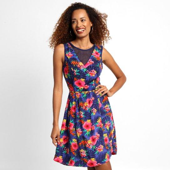 a4cebbdb96 Vestido Mercatto Estampa Rosas - Compre Agora