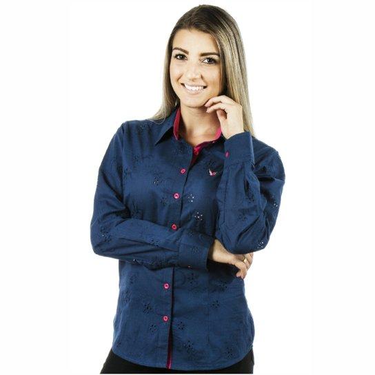 Camisa Pimenta Rosada Gerry - Azul e Rosa - Compre Agora  c4244c56ab5c4