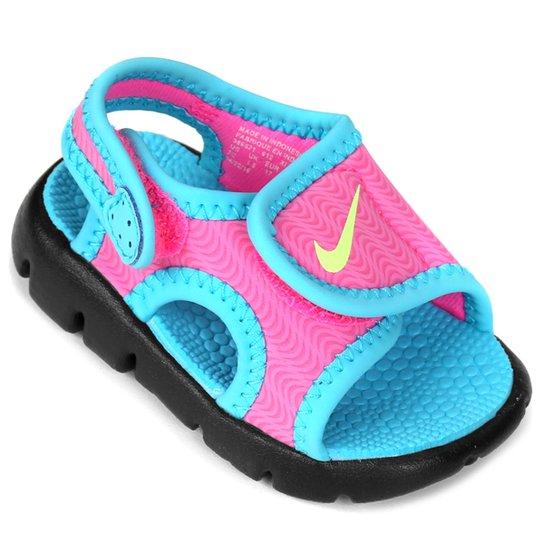 7d55fab910a6f Sandália Nike Sunray Adjust 4 Infantil - Azul Turquesa e Pink | Zattini