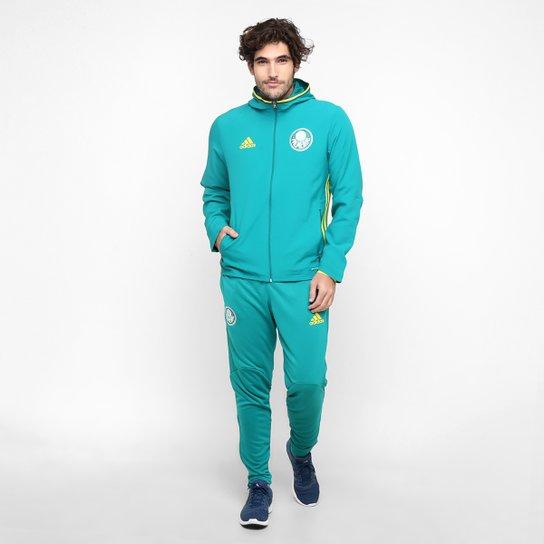 Agasalho Adidas Palmeiras Viagem - Verde Água+Amarelo fa3cf3d9e609a