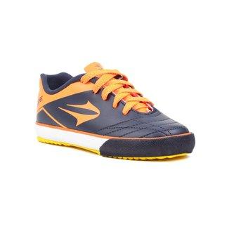 ba127a8cf7a Tênis Futsal Infantil Para Menino Topper Frontier Vii Jr Azul laranja