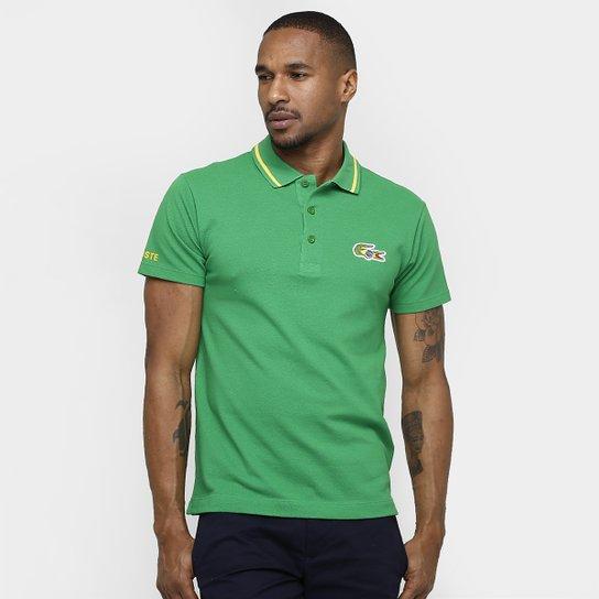 b29ed2101e3 Camisa Polo Lacoste Piquet Olimpíadas - Compre Agora