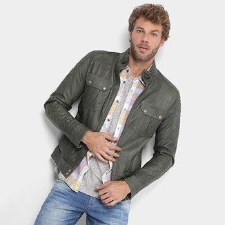 705e260e8 Casaco Jeans. Ver similares. Confira · Jaqueta Couro Calvin Klein Biker  Matelassê Masculina