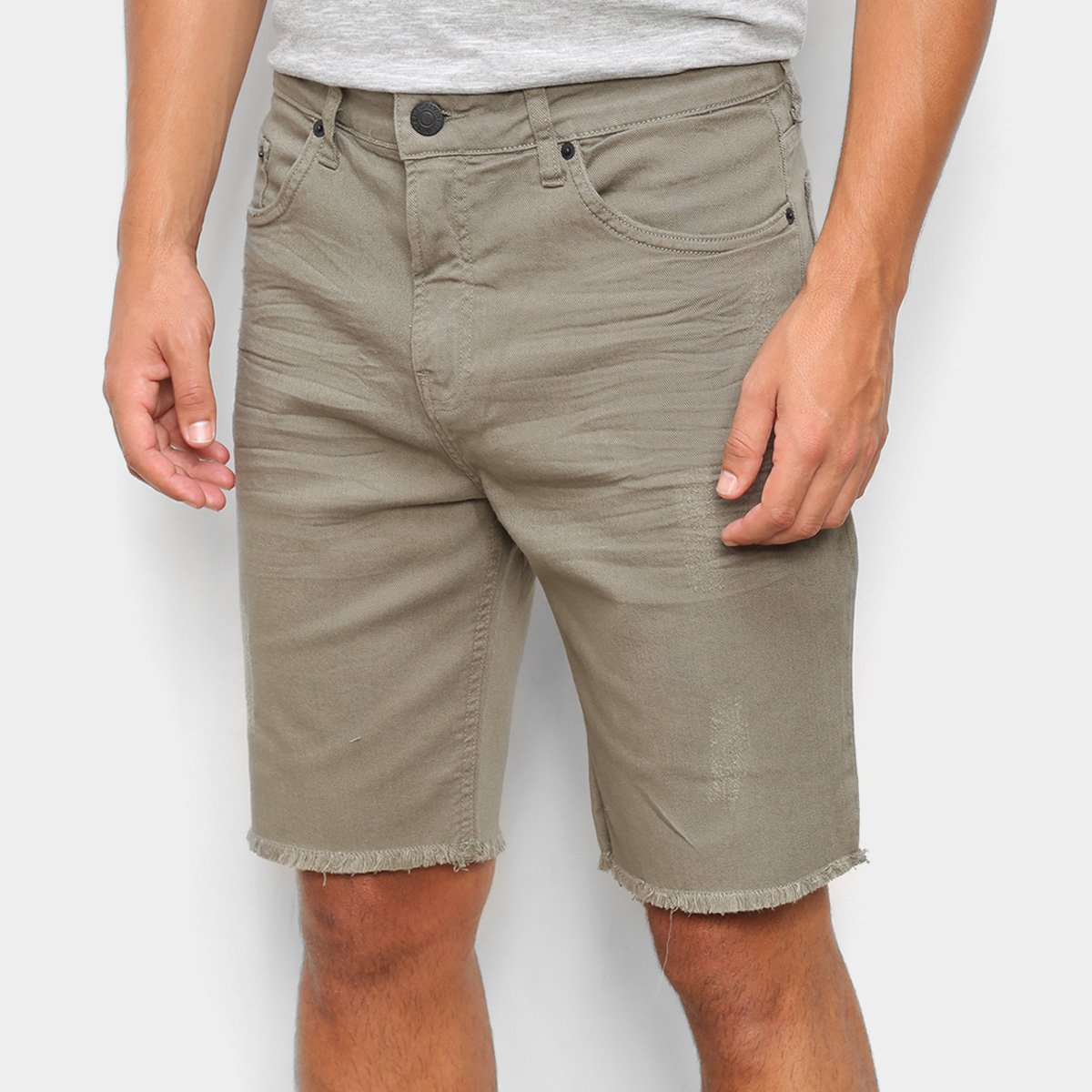 Bermuda Jeans Calvin Klein Barra Desfiada Masculina