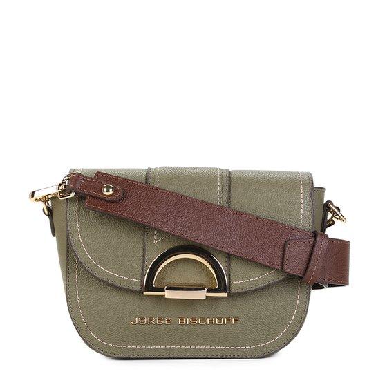 cffda235c Bolsa Couro Jorge Bischoff Mini Bag Croco Alça Transversal Feminina - Verde  Militar