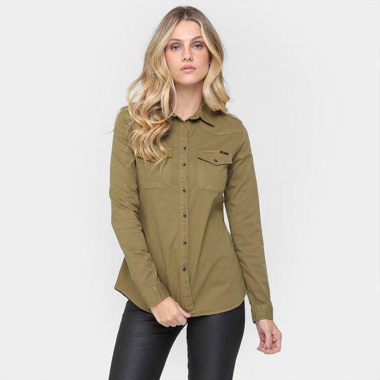 Camisa Colcci Manga Longa Sarja Color - Compre Agora  a90608ff07162