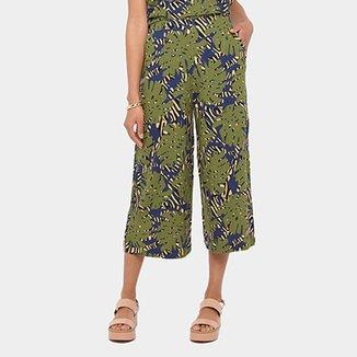 9dd1e62e64 Calça Cantão Pantalona Cropped Savana Cintura Alta Feminina