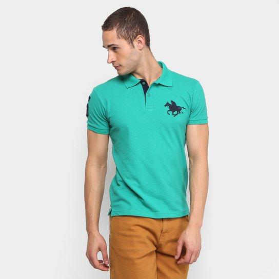 08e38cc1d54b3 Camisa Polo RG 518 Piquet Básica Masculina - Verde - Compre Agora ...