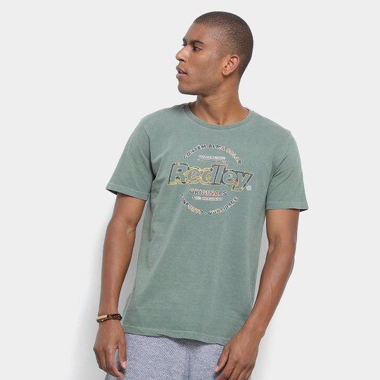 f7532ba12c7 Camiseta Redley Originals Estampada Masculina - Verde Militar ...