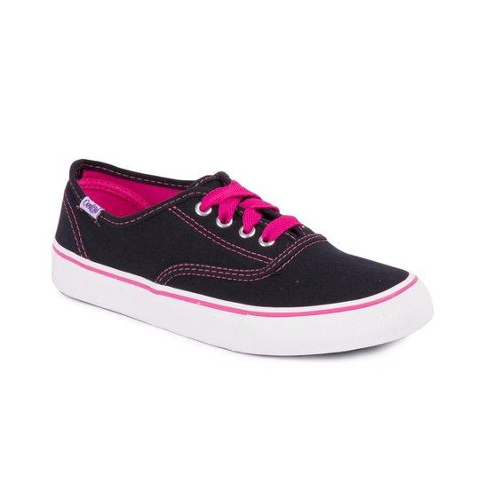 3b86c9f412e Tênis Capricho Lanai Canvas Black - Pink e Preto - Compre Agora ...