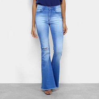 8a7b39846 Calça Jeans Flare Handbook Tereza Cintura Alta Feminina