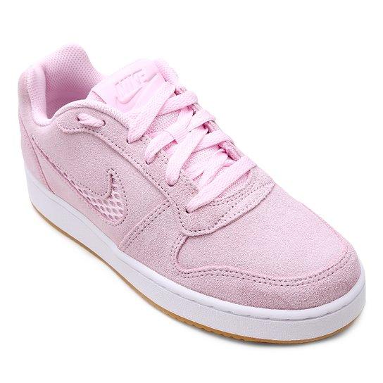 Tênis Nike Wmns Ebernon Low Prem Feminino - Rosa - Compre Agora ... a52bb3f86e343